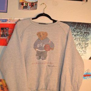 Vintage 90s Polo Bear sweatshirt